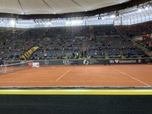 ドイツ国際オープン,コート,最前列